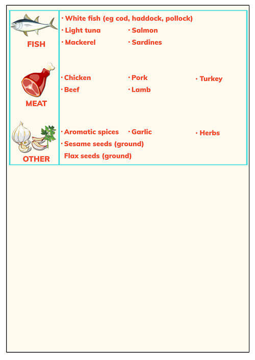 Baby food schedule 6 to 9 months, page 2
