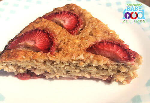 Baby's Strawberry & Banana Slice