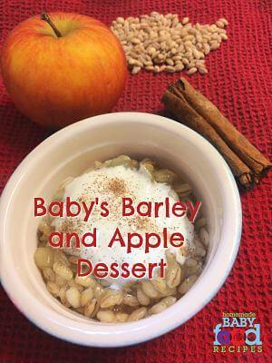 Baby's Barley and Apple Dessert
