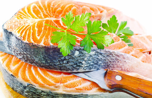 Fresh salmon fillets! Learn how to use these and more, in your fish baby food recipes.